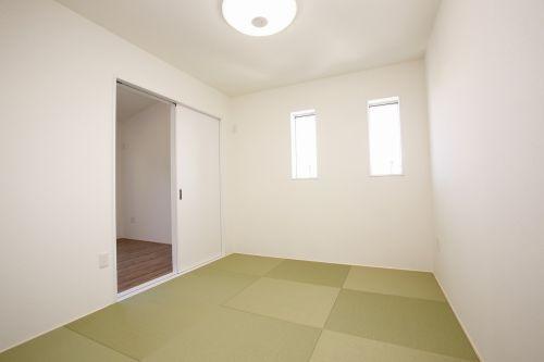 モスグリーンの家でシンプルに暮らす画像04
