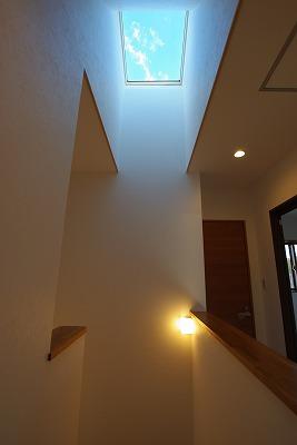 天窓から青空をながめる家画像01